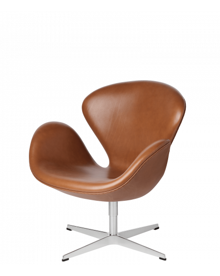 Fritz Hansen - Swan lounge chair leather - Fotele Skandynawskie