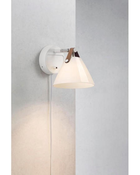 Design For The People - Strap 15 wall lamp / glass - Skandynawskie Lampy Ścienne