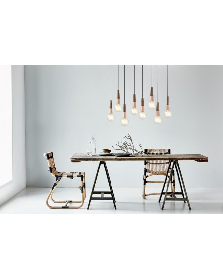 Stripped pendant lamp