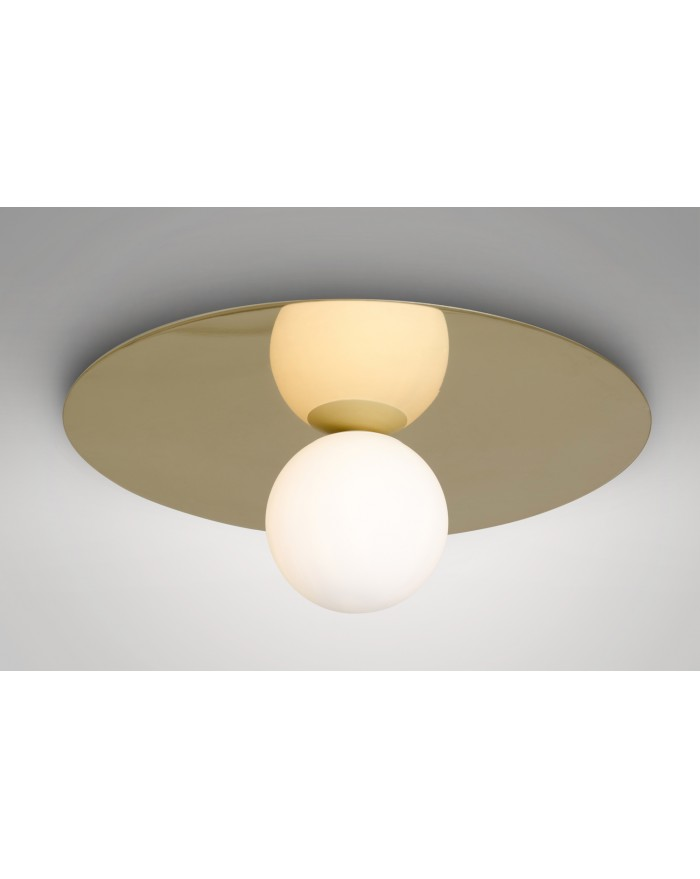 Plate and sphere ceiling/wall lamp