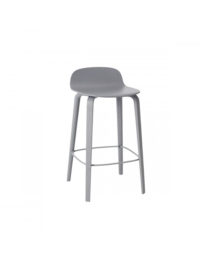 Visu bar stool low grey