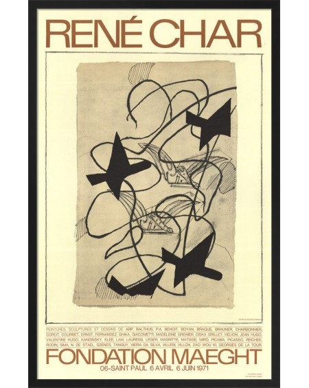 Galerie Maeght - RENE CHAR  EXPO 1971, BRAQUE - Lifestyle