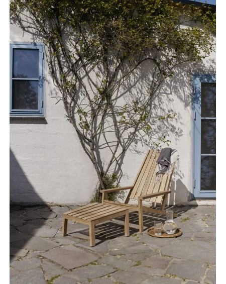 SKAGERAK - Between Lines Deck chair + stool - Meble ogrodowe