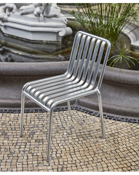 HAY - Palissade chair Hot Galvanised - Meble ogrodowe