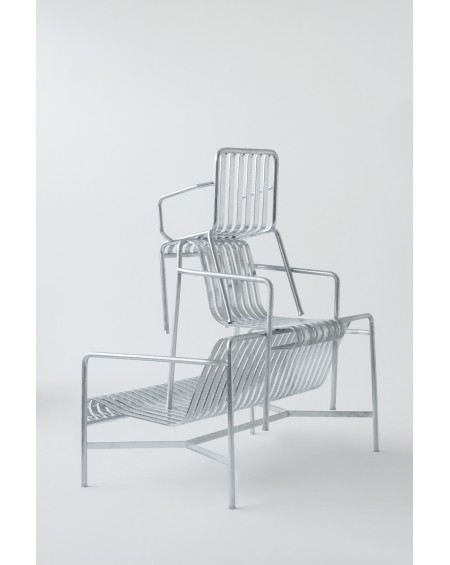 Palissade Arm Chair Hot Galvanised
