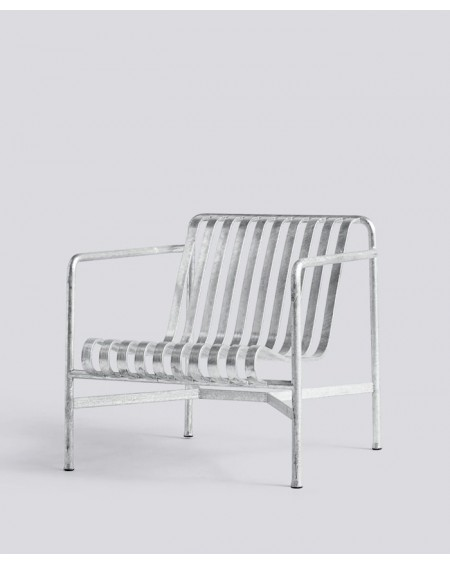 HAY - Palissade Lounge Chair low Hot Galvanised - Meble ogrodowe