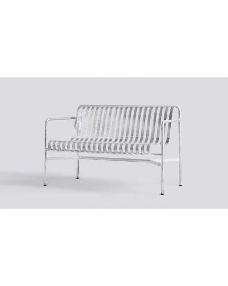 HAY - Palissade Dining Bench Hot Galvanised - Meble ogrodowe