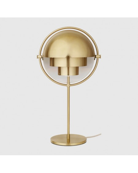 Gubi - Multi-Lite Table Lamp - Brass base - Skandynawskie Lampki Biurkowe