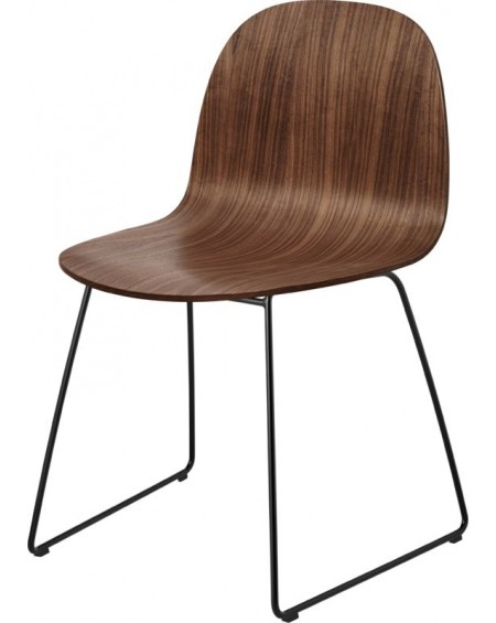 Gubi - 2D Dining Chair - nietapicerowane- Sledge base - Meble