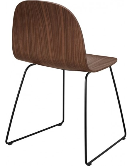 2D Dining Chair - nietapicerowane- Sledge base
