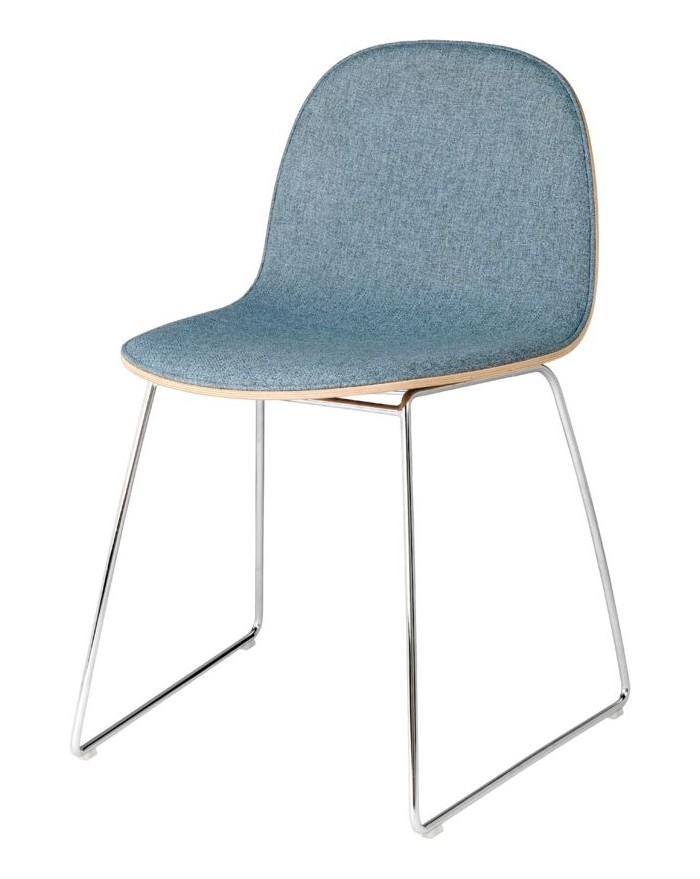 2D Dining Chair - front tapicerowany - Sledge base