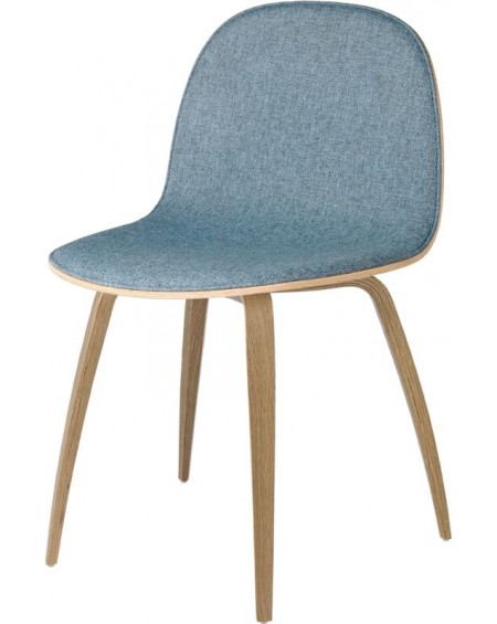 Gubi - 2D Dining Chair - Front tapicerowany - Wood base - Meble