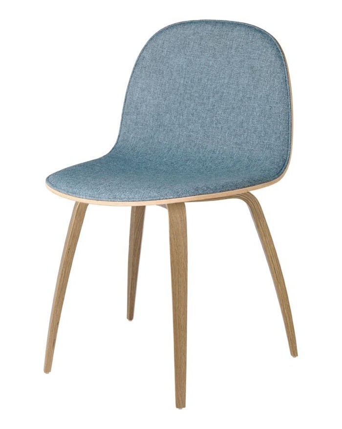 2D Dining Chair - Front tapicerowany - Wood base