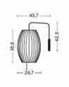 HAY - Nelson Cigar Wall Sconce Cabled S - Skandynawskie Lampy Ścienne