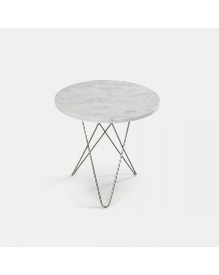Ox denmarq - TALL MINI O Table / Marble, Rustique Slate or Wood - Stoliki kawowe