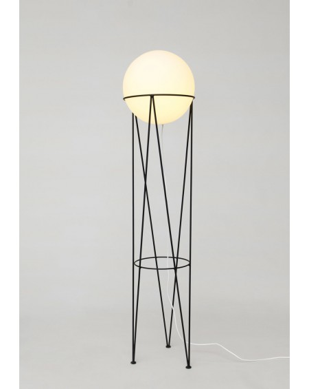Structure and Globe Floor Lamp