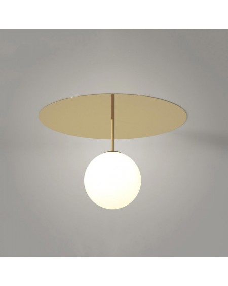 Atelier Areti - Plate and Sphere 2 Ceiling / Wall light - Skandynawskie Lampy Sufitowe
