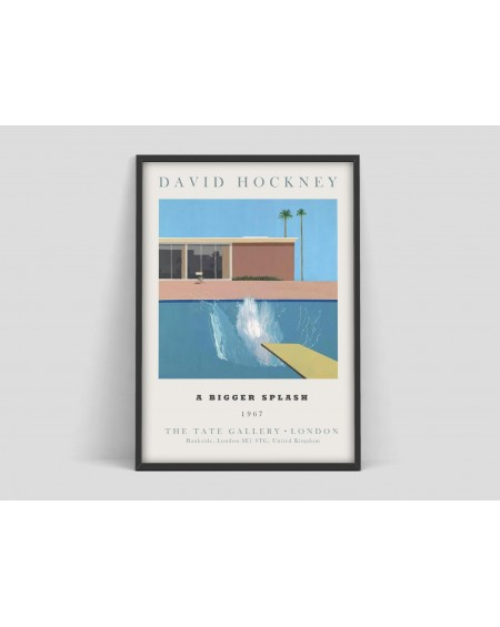 Various selection - Plakat David Hockney art Exhibition Poster - Skandynawskie Lampy wiszące