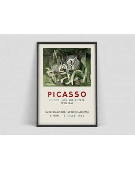 Plakat III Pablo Picasso poster, Vintage art Exhibition