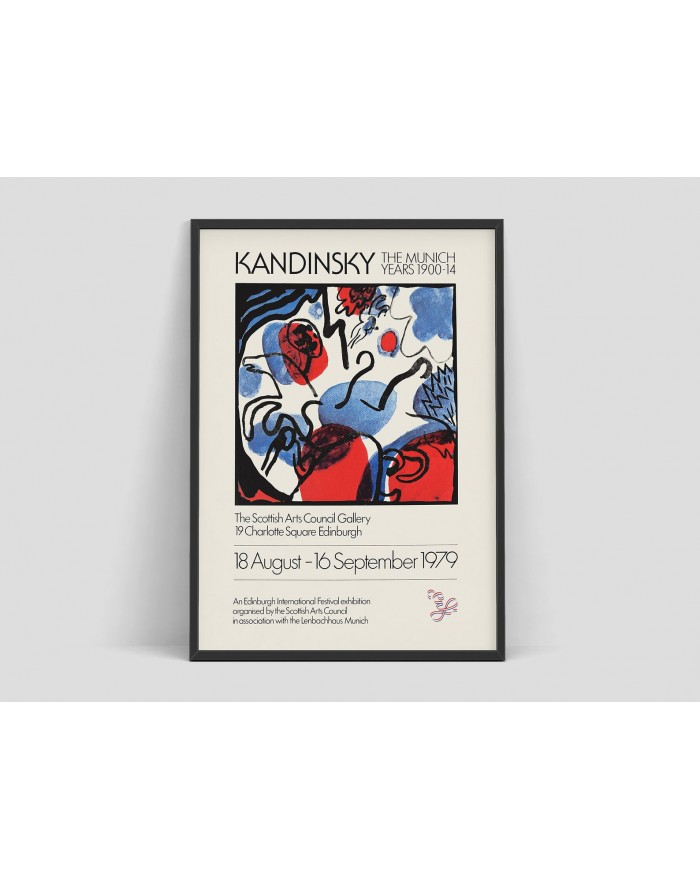 Plakat, Wassily Kandinsky - Exhibition poster for The Scottish Arts Council Gallery