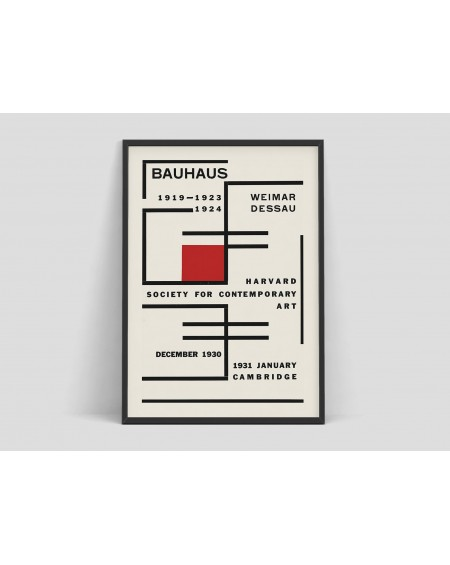 Various selection - Plakat, Bauhaus - Exhibition poster for Harvard Society for Contemporary Art - Akcesoria