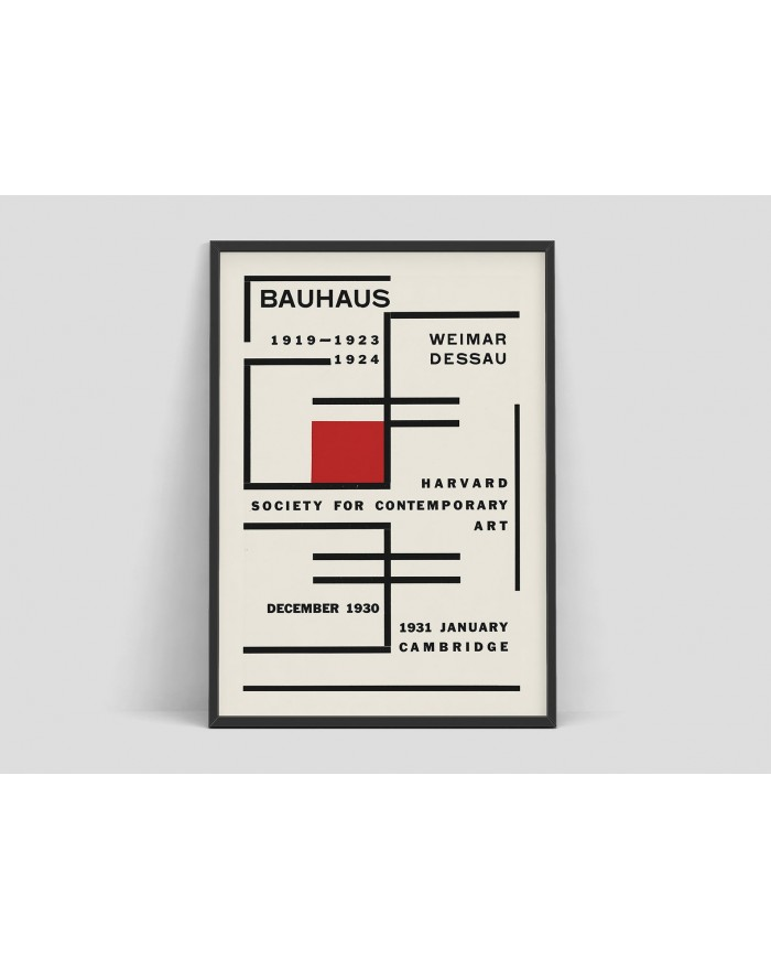 Plakat, Bauhaus - Exhibition poster for Harvard Society for Contemporary Art
