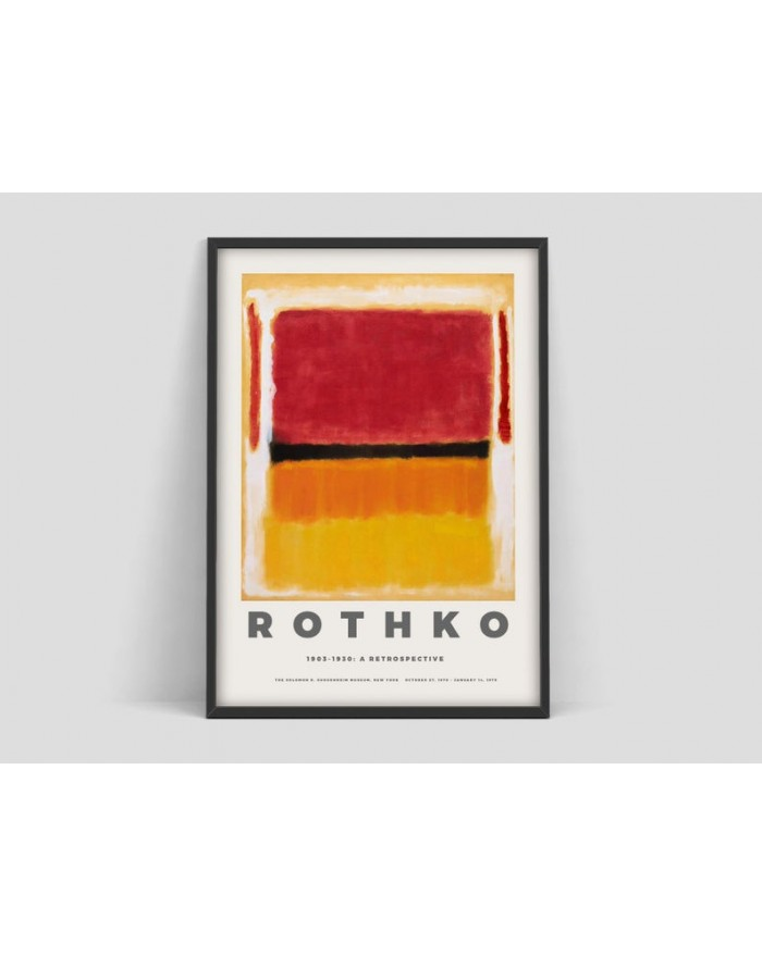 Plakat Mark Rothko, Exhibition print for the Guggenheim Museum