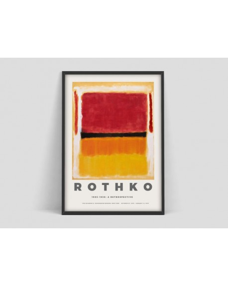 Various selection - Plakat Mark Rothko, Exhibition print for the Guggenheim Museum - Plakaty Skandynawskie