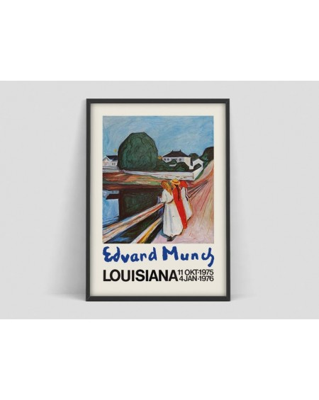 Various selection - Plakat Edvard Munch, Louisiana exhibition Print - Plakaty Skandynawskie