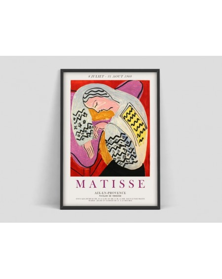 Various selection - Plakat Henri Matisse Aix en Provence,Woman Face, Exhibition poster - Plakaty Skandynawskie