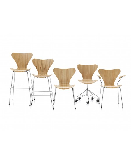Fritz Hansen - Series 7TM counter stool 3187 - Stołki Barowe