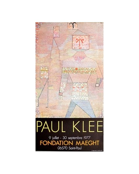 Galerie Maeght - Klee - General En Chef 1932 - Expo 1977 - Plakaty Skandynawskie
