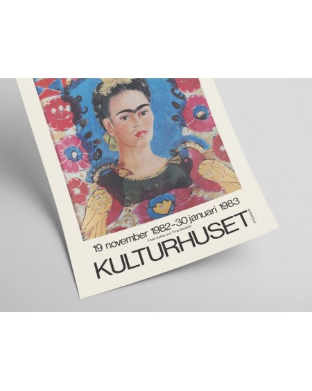 Plakat, Frida Kahlo - Exhibition poster for Kulturhuset