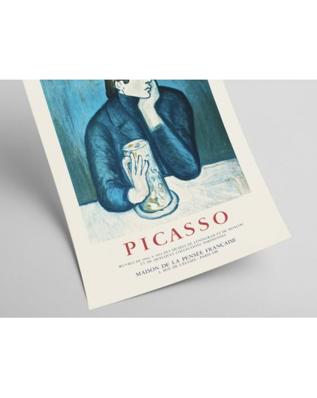 Plakat, Picasso - Vintage exhibition poster lithograph created for the Maison de La Pensee Francaise