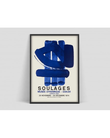 Various selection - Plakat Soulages - Plakaty Skandynawskie