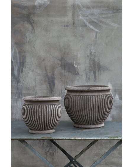 Bergs Potter - Doniczka Piccolina  / Grey OUTDOOR - Meble ogrodowe