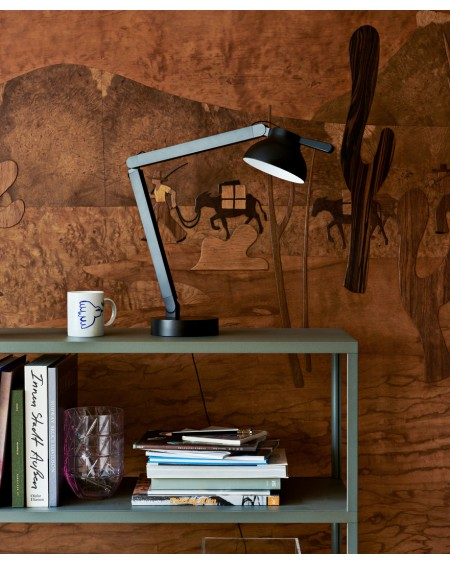 HAY - PC double arm w. Table Base / desk lamp - Skandynawskie Lampki Biurkowe