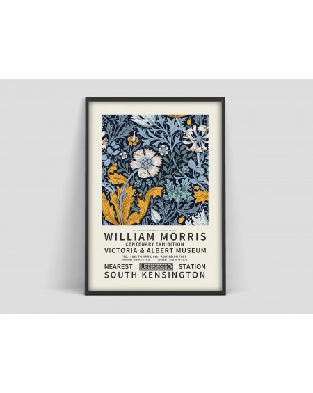 Various selection - Plakat Flower pattern V William Morris - Plakaty Skandynawskie