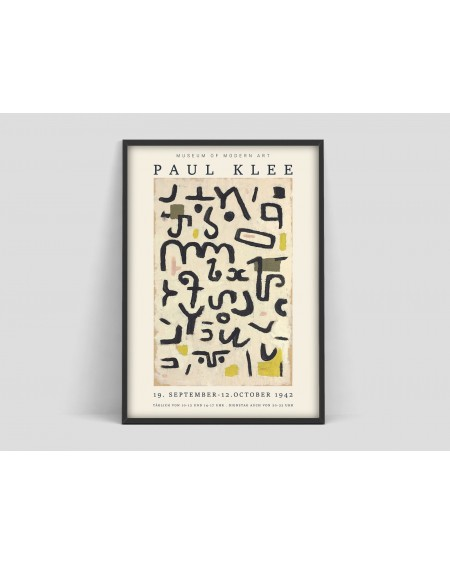 Plakat Paul Klee, Exhibition Museum of Modern Art