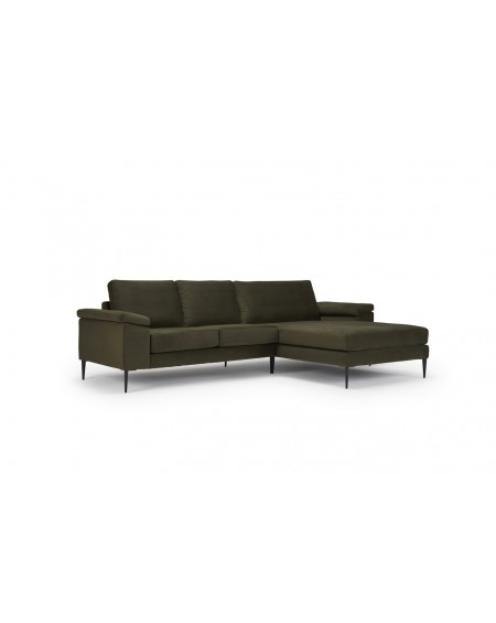 Kragelund - Nabbe 2 seater sofa with chaiselong / Cushion arms - Sofy Skandynawskie