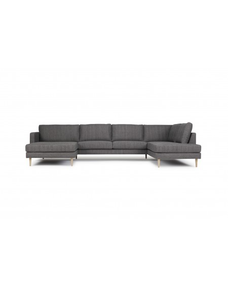 Kragelund - Nabbe 2 seater sofa Opened Chaiselong / Combination 67 - Sofy Skandynawskie