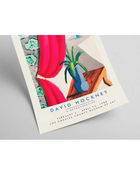 Plakat David Hockney, A retrospective