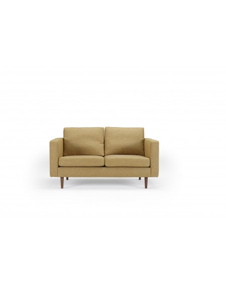 Obling sofa 2-os. tkanina Torro 241 Curry, nogi ciemny dąb (oak, dark stained)