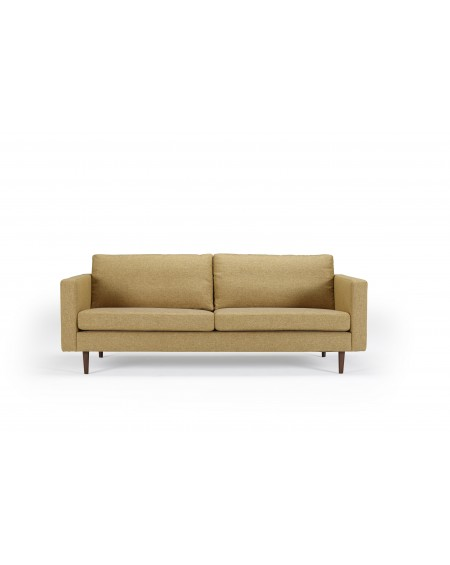 Obling sofa 3-os. tkanina Torro 241 Curry, nogi ciemny dąb (oak, dark stained)