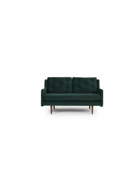 Holme sofa 2os. tkanina Velvet 603 forest, nogi ciemny dąb (oak, dark stained)