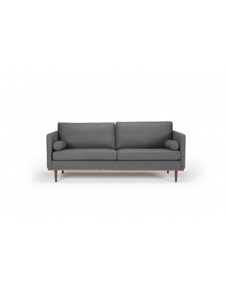 Vangen sofa 3-os. tkanina 524 dark grey , nogi ciemny dąb (oak, dark stained)
