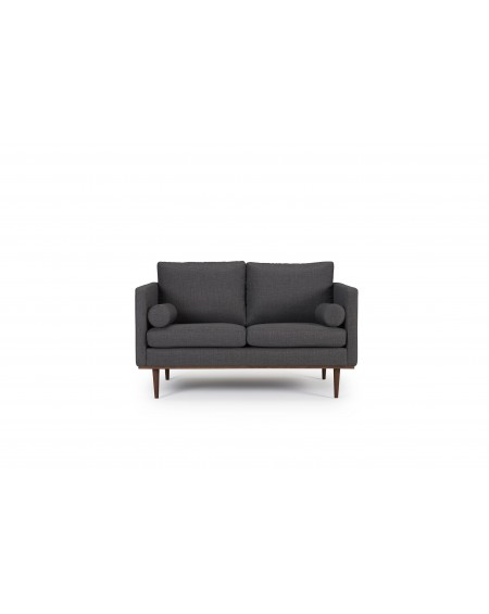 Vangen sofa 2-os. tkanina Ramo 161 anthracite, nogi ciemny dąb (oak, dark stained)