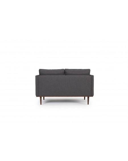 Vangen sofa 2,5-os. tkanina Ramo 161 anthracite, nogi ciemny dąb (oak, dark stained)