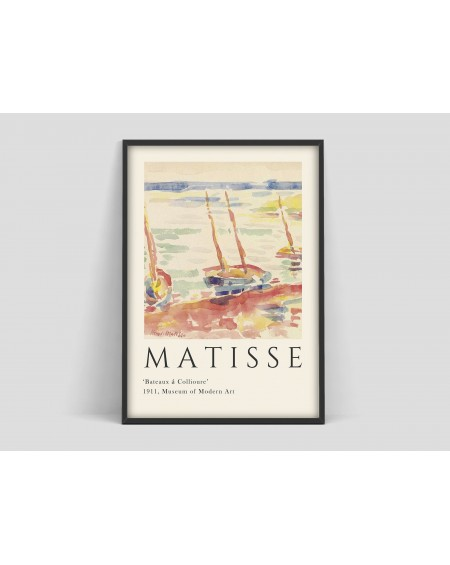 "Various selection - Plakat Matisse ""Bateaux a Collioure"" - Plakaty Skandynawskie"