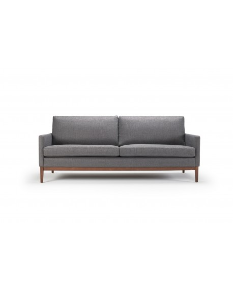 Finn sofa 3-os. tkanina Ramo 161 anthracite, nogi ciemny dąb (oak, dark stained)